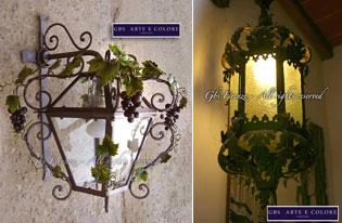 Gbs ferro battuto galleria di immagini lampadari for Imitazioni lampade design