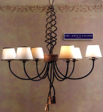 ferro battuto lampadari : Pin Lampadari In Ferro Battuto on Pinterest