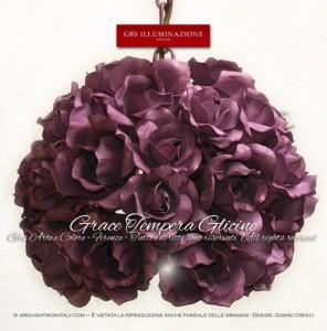 Lampada Grace di GBS, Made in Italy. Ferro battuto e decorato a mano.