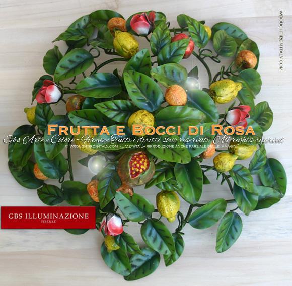 Plafoniera Frutta, limoni mele mandarini e melagrane