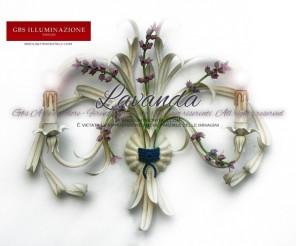 Applique Lavanda a 2 luci in ferro battuto colore bianco, tempera anticata. GBS Firenze