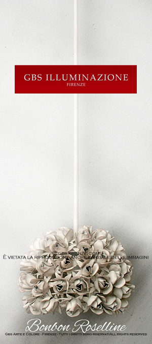 pendant lamp roses Bonbon with one light. All Rights Reserved.