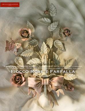 Applique Fiocco Rose e Farfalla