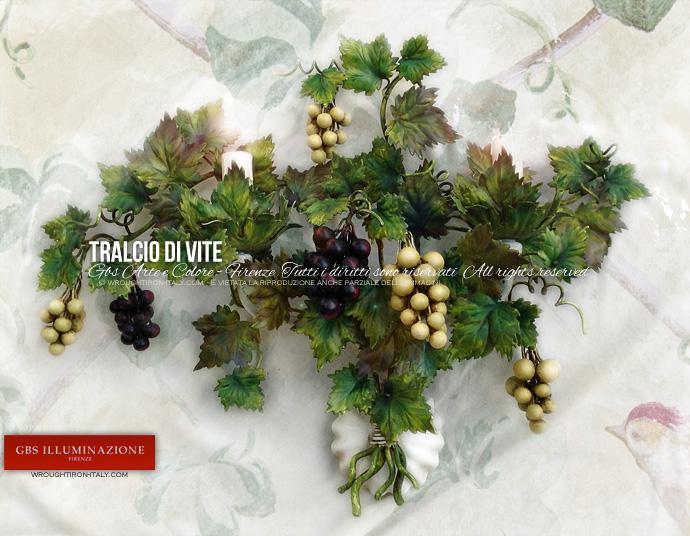 Cucina country tralcio d uva appliquegbs illuminazione u ferro