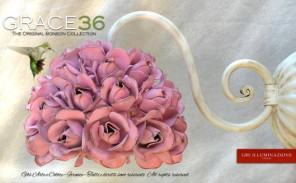 Grace36 Applique Piccola Grace di 36 rose. Applique in ferro battuto di GBS Firenze