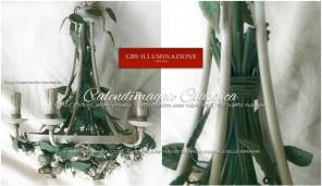 Calendimaggio Classica 5 Luci, lampadario in ferro battuto di GBS
