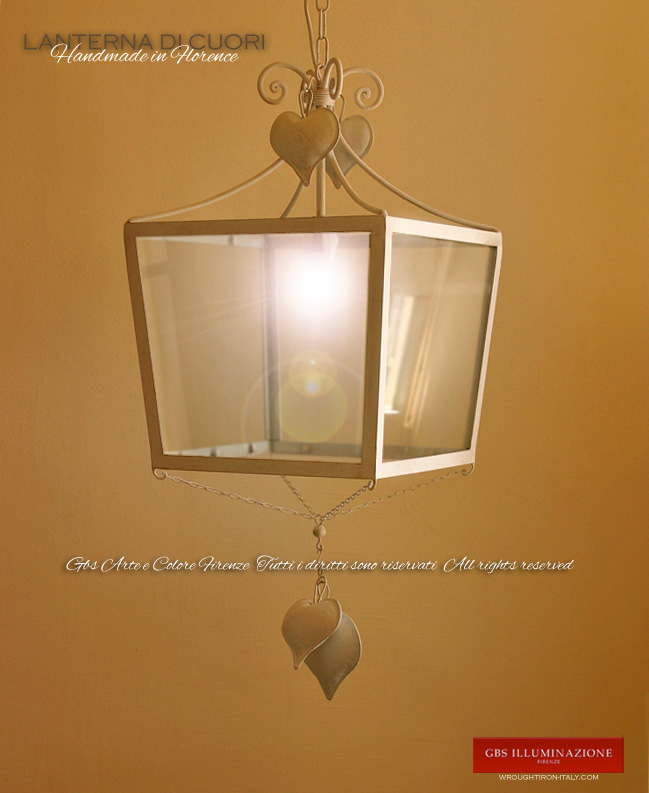 Lanterna di cuori gbs illuminazione ferro battuto - Lanterne da interno ...