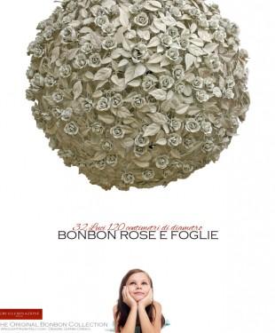 Grande lampada a sospensione Bonbon Rose e Foglie, di Gianni Cresci per GBS. Made in Italy