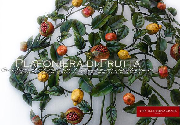 Plafoniera Frutta - Illuminazione Cucina Country GBS Illuminazione ...