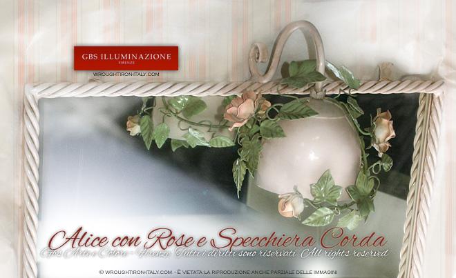 Luce per specchio colore rosa petalo applique e specchiera su misuragbs illuminazione ferro - Applique per il bagno ...