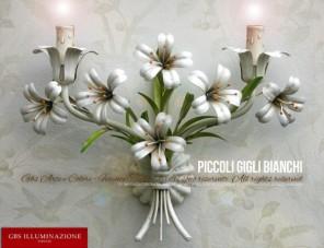 Piccoli Gigli Bianchi, Applique a due luci
