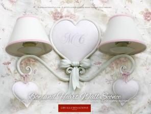 Bow and Heart Wall Sconce - Romantic bedroom
