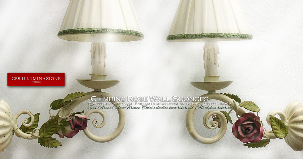 Climbing Rose Wall Sconces