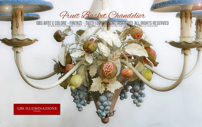 Fruit Basket Chandelier - Country Kitchen