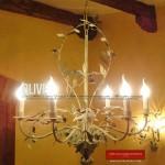 Lampadario con Olive di GBS - Collezione per l'arredamento Country