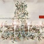 Grande Lampadario Olive 15 Luci. Collezione Country