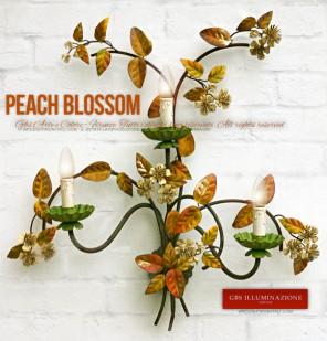 Peach Blossom 3-light Wall Sconce