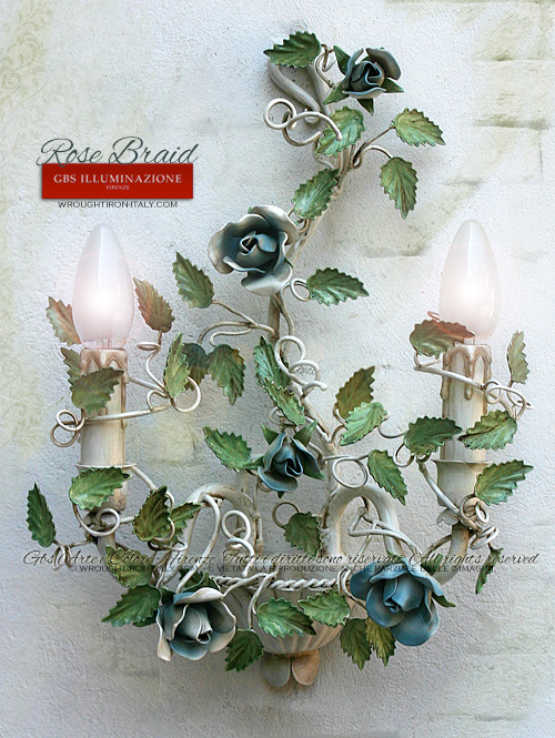 Rose Braid 2-light Wall Sconces