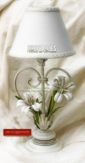 White Gbs Illuminazione Ferro Battuto Wrought Iron