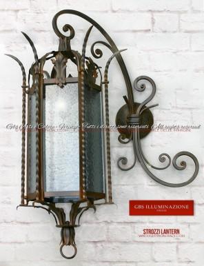 Wrought Iron Strozzi Lantern - Florence
