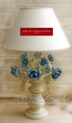 Base Table lamp, Pitti collection, Bouquet of Roses and Bow