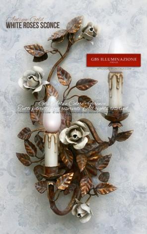 White Roses Sconce