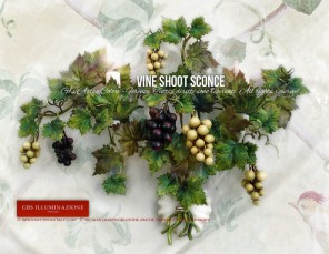 Vine Shoot Sconce with two lights - Country chic kitchen