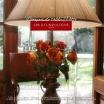 Lampe de table en fer forgé et décoré à la main, collection Pitti de GBS. Made in Italy