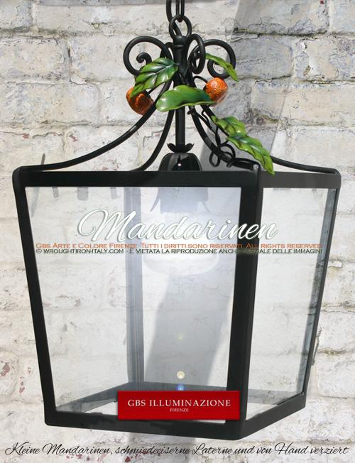 Viereckige Laterne mit Mandarinen, Für die Beleuchtung von Pavillon, Terrasse, Veranda oder Wintergarten