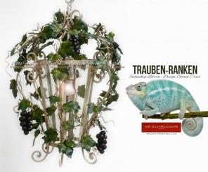 Sechseckige Laterne Trauben und Ranken, im Esszimmer oder Küche, wird sie oft auch als Leuchte für einen Pavillon oder Wintergarten, für die Terrasse oder Veranda