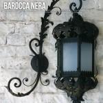 Lanterna Nera, per palazzo storico, da parete.
