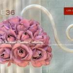 Grace 36 roses Applique En fer forgé, à 1 lumière. Bonbon Collection