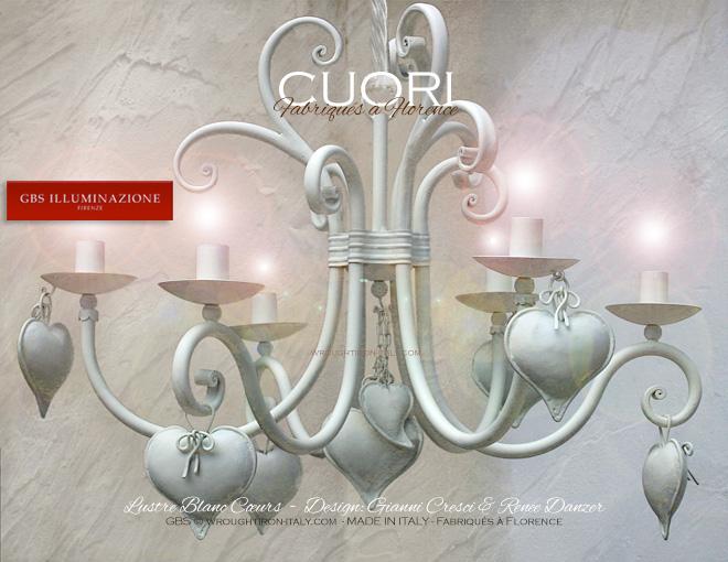 Lustre blanc c urs gbs illuminazione ferro battuto - Lampadario camera da letto ragazza ...