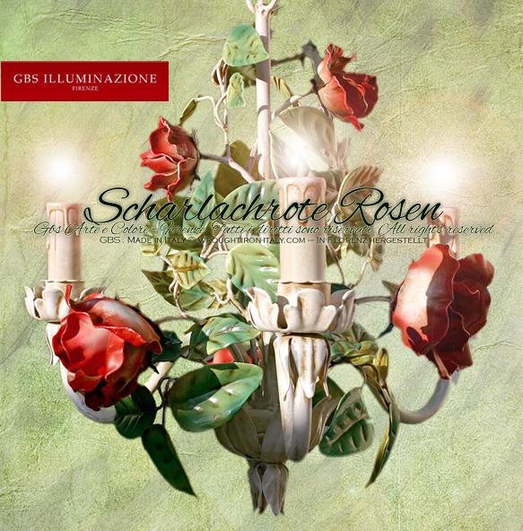 Scharlachrote Rosen – Kleiner, romantischer Leuchter