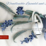 Wandleuchte Lavendel und Schleife. GBS Firenze. Made in Italy. Country-Chic