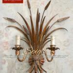 Applique classico in Oro Antico. Spighe. Di GBS Firenze