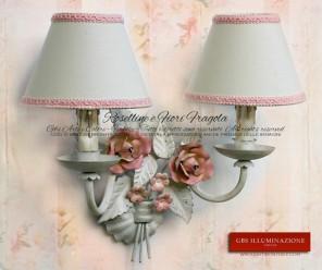 Applique in tempera bianca. Rose rosa. Per la cameretta Shabby e romantica. Tempera Bianca.