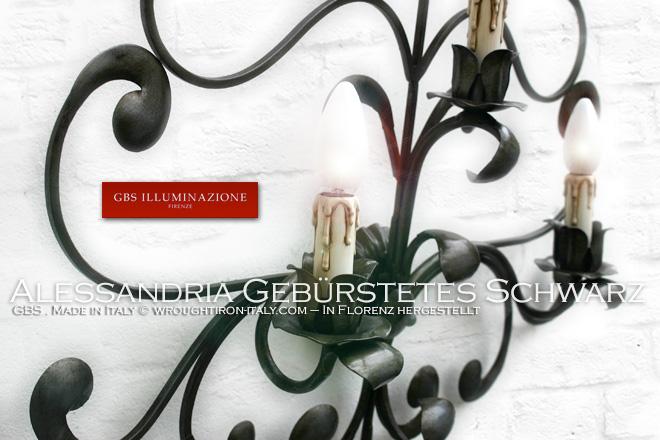 Wandlampe aus Schmiedeeisen und von Hand verziert