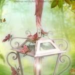 Lanterna Piccole Farfalle con Fiocco rosa. Cameretta romantica e fiabesca
