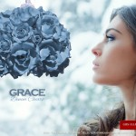 Grace. One light pendant. Denim color. Sospensione di Rose