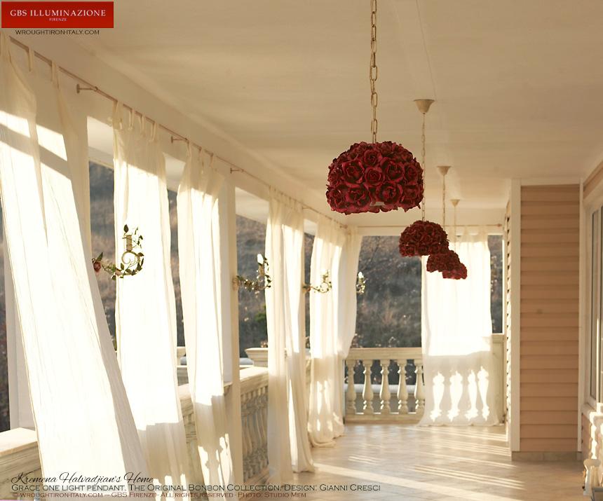Lampadari Plafoniere Rosse : Rose rampicanti gbs illuminazione u2013 ferro battuto wrought iron