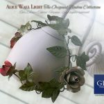 Alice wall light. Ivy and Roses. Design: Gianni Cresci