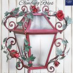 Climbing Roses. Wrought iron Lantern. Country-Chic Collection. Tole Roses and Leaves