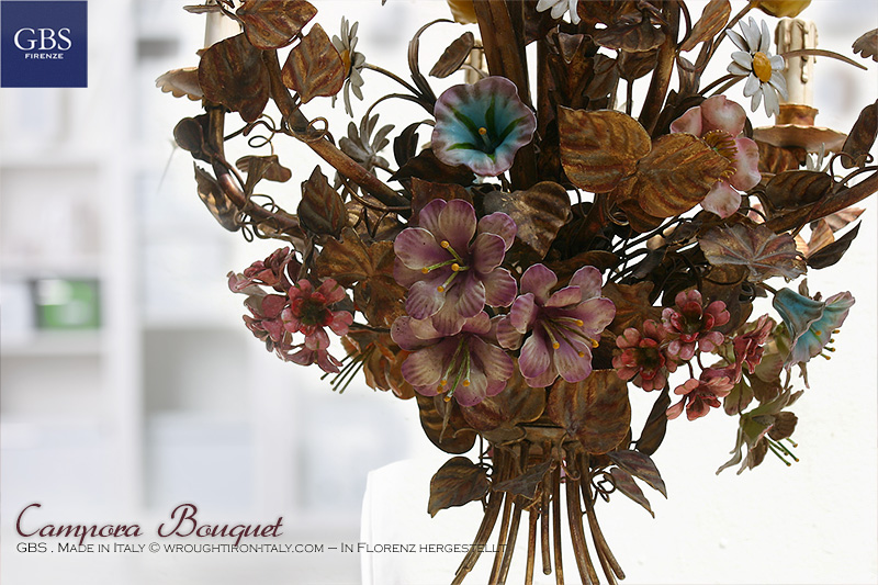 Lampadario Campora Bouquet. Clematis. Oro.