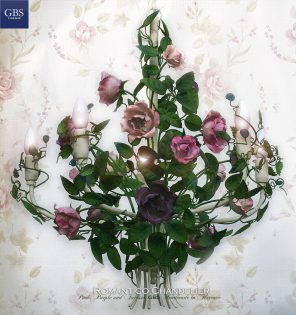 Romantico Chandelier with roses. The original GBS tole chandeliers.