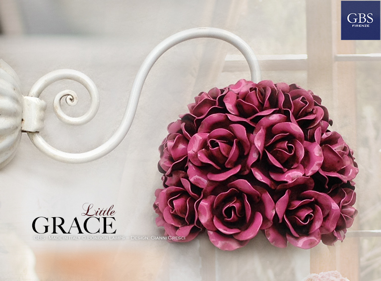 Grace Wall sconce. Roses Wall light. Made in Italy Design: Gianni Cresci for GBS