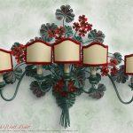 Geranio Lámpara de pared (applique) 5 luces
