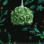 Grace. Lampara colgante de techo. Rosas Florecidas. Hierro forjado, pintado a mano. The Original Bonbon Collection. Design: Gianni Cresci