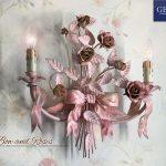 Moño y rosas. Lámpara de pared