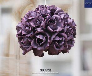 Sospensione Grace. Rose. Pendant Light with Roses. Lampara de techo.